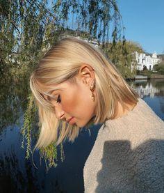 Short Blonde, Blonde Hair, Hair Inspo, Hair Inspiration, Hairstyles With Bangs, Cool Hairstyles, Gorgeous Hair, Beautiful, Skin Makeup