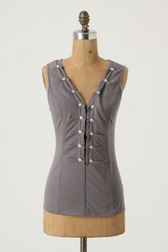 Pilcro's Who's-Got-The-Button Top from Anthropologie. Inspiration galore.