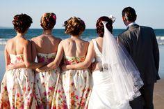 Sarah and Brendan's Fifties Noosa Wedding Beach Gowns, Short Beach Dresses, Patterned Bridesmaid Dresses, Wedding Dresses, Wedding Blog, Wedding Day, Wedding Stuff, Polka Dot Wedding, Wedding Inspiration
