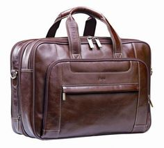 Computer Bag Nevada Brown Italian Leather Computer Bag  Dimensions: 400 × 290 × 200mm (L x W x H) Brand by blind embossing
