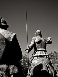 Statue of Don Quixote in Madrid