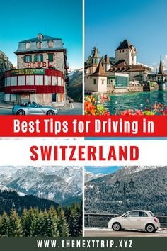 Best Tips for driving in Switzerland from a local! This guide includes the most important rules, road signs, and everything you need to know for a great road trip. Switzerland Travel Guide, Places In Switzerland, Switzerland Vacation, Europe Travel Guide, Europe Destinations, Travel Guides, Hotel Belvedere, Swiss Travel, Road Trip Essentials