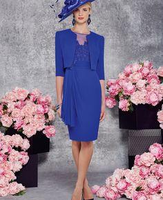 Elegant 2016 New Mother Of The Bride Groom Dresses Royal Blue Chiffon Lace Knee Length robe mere de la mariee vestido mae noiva