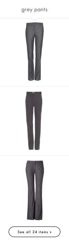 """grey pants"" by msdanasue ❤ liked on Polyvore featuring pants, grey, gray pants, grey pants, woolen pants, grey wool trousers, grey wool pants, dark prusse, lightweight pants and twill trousers"