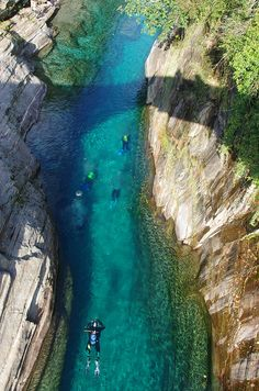 Clear turquoise water - The Verzasca River valley, Italy