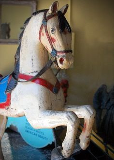From an amusement park on the eastern shore of Maryland. All original paint. Early 20th century.