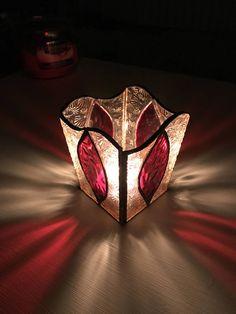 Sostenedor de vela de la hoja de vidrio