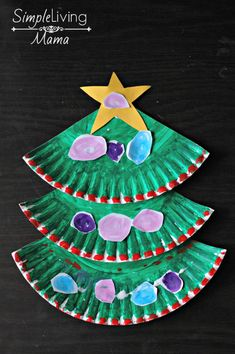 Paper plate christmas tree craft xmas crafts for kids малыши Christmas Crafts For Toddlers, Christmas Tree Crafts, Toddler Christmas, Toddler Crafts, Preschool Crafts, Diy Crafts For Kids, Christmas Fun, Holiday Crafts, Christmas Decorations