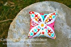 Moda Bake Shop: Cathedral Window Pincushion What a great way to learn a new technique in a smallish way!