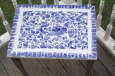 Gypsy Interior Design Dress My Wagon  Serafini Amelia  Mossaic-Creative Design-blue willow table - broken china mosaic