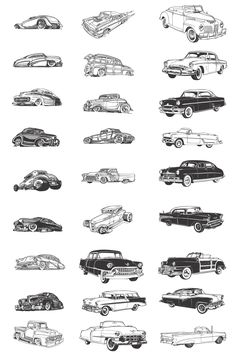 Old Classic Cars Silhouettes we can cover all these models and a whole lot more....