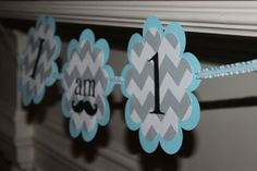 Highchair Banner  1st Birthday Mustache by PrettyPaperByLauren, $15.00