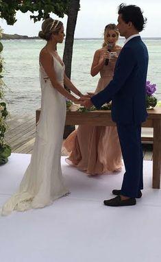 Saint Barths Week - The Wedding! Wedding Prep, Chic Wedding, Wedding Events, Celebrity Wedding Photos, Celebrity Weddings, Vestido Calvin Klein, Wedding Ideas Board, Boho Bride, Formal Dresses