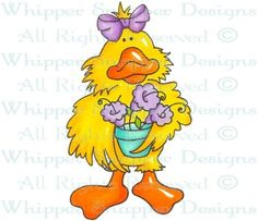 Spring Duck Wishes - Ducks - Animals - Rubber Stamps - Shop