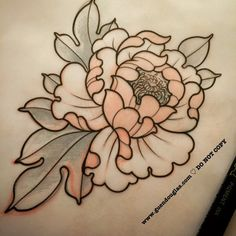 romantic peony tattoo - Google Search