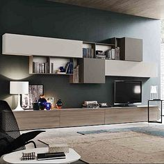 Amazing contemporary 'Loving' TV Unit by Orme Tv Cabinet Design, Tv Unit Design, Tv Wall Design, Living Room Tv Unit, Ikea Living Room, Living Spaces, Ikea Tv Unit, Modern Tv Units, Muebles Living