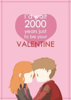 """""""I would wait 2000 years to be your Valentine"""" - Rory Williams to Amy Pond of Doctor Who Doctor Who Valentines, Nerdy Valentines, Rory And Amy, Serie Doctor, Rory Williams, Don't Blink, Geek Out, Dr Who, Way Of Life"""