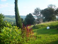Breathtaking view at Clos de Fougeres Guesthouse in Burgundy