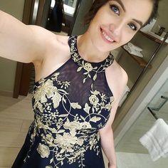 4d468723cc4a Metallic Embroidered Jersey Chiffon Halter Dress Style 59562D, Black, 16