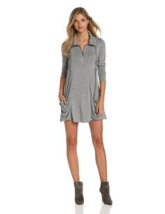 04fc0418a Kensie Women's Drapey French Terry Dress, Heather Grey, Small from kensie  Cyber Monday Black Friday