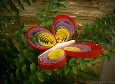 бабочка квиллинг