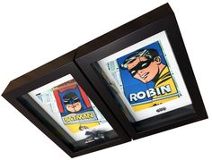 Title: 1966 Batman & Robin collectables These two 'one-offs' were a 30th birthday present and are based on the 1966 set of batman & Robin cards that came in waxed packets which also had a flat stck of bubblegum in them. On the back of the illustated cards were graphic characters that you could build up, as you collected the series.   The two pieces of ephemora were purchased in New York City and are over 25 years old. 30th Birthday Presents, Batman Robin, 25 Years Old, Bubble Gum, Ranges, Two By Two, Characters, York, Flat