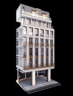One Palace Street Paris Architecture, Architecture Details, Duggan Morris, 3d Modelle, Arch Model, Cladding, Most Beautiful Pictures, Palace, Tower