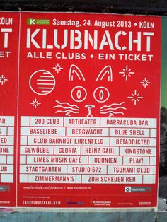 #Plakat Klubnacht #Flächenplakatierung