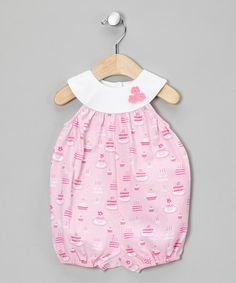 Take a look at this Pink Baby Cake Bubble Romper - Infant by Sweet Potatoes on #zulily today!