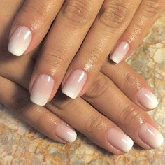 50 Awesome French Tip Nails to Bring Another Dimension to Your Manicure - Subtle Pink Ombre French Nails - Ombre French Nails, Glitter French Manicure, French Manicure Designs, French Tip Nails, French Manicures, Nails Design, French Tips, Bridal Nails French, New French Manicure