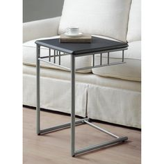 Snack Tray Table TV Slide Under Couch Sofa Chair Side End Drinks