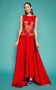Gorgeous Red Naeem Khan Gown