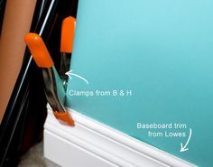 Clamp baseboard onto photo backdrop--don't have to attach permanently. Photoshop Actions Photo Studio Set Up Backgrounds