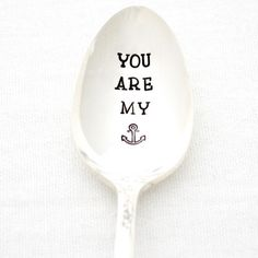 Aw, sweet hand-stamped spoon for a men's Vday gift