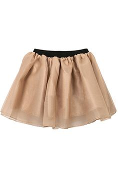 Pleated Multilayer Champagne Colored Skirt #romwe