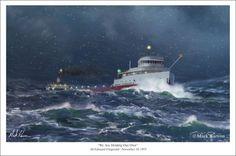 Edmund Fitzgerald Marine Art Print