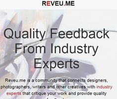 Reveu.me - Connecting creatives with industry professionals