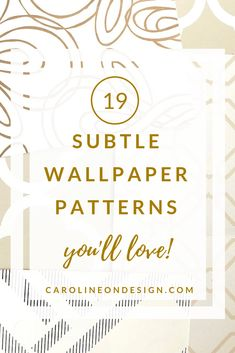 Choosing a subtle pattern is a great way to ease into wallpaper! There are thousands of choices and I have rounded up 19 subtle wallpaper patterns for you!