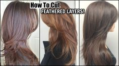 In this video, I show you how to cut feathered layers into your hair. This cut is great for long hair or medium hair, you can even get away with i. Medium Layered Haircuts, Medium Hair Cuts, Long Hair Cuts, Medium Hair Styles, Long Hair Styles, Ponytail Haircut, Diy Haircut, Cut Hair At Home, Cut My Hair