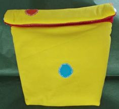 custom made snack bag, padded and insulated