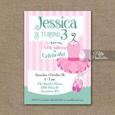 3rd Birthday Invitation – Ballet Tutu Invitation