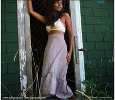 Daydream Skirt made from reclaimed cotton. Handmade in Toronto. $55 on Ethical Ocean. #handmade