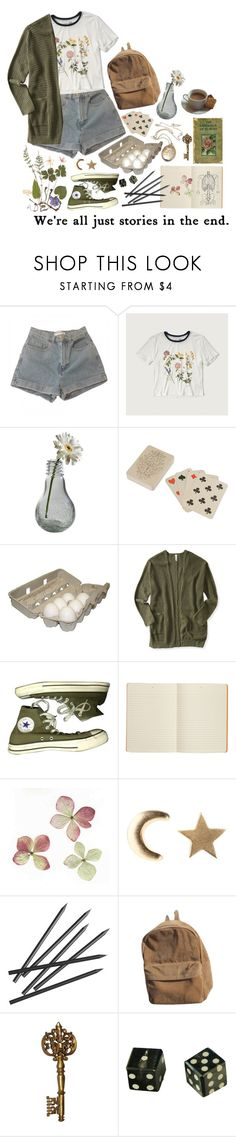 """You must be waiting"" by purpleghost ❤ liked on Polyvore featuring American Apparel, Abercrombie & Fitch, Dot & Bo, Vintage Collection, Aéropostale, Converse, Connor, Social Anarchy and CB2"