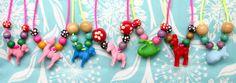 DIY kids necklace too cute