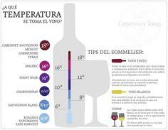 Vinos temperatura ideal