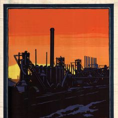 Steel Mills at Gary by South Shore Line