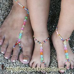 Barefoot Sandals DIY - make a large pair for mom, small for baby/child