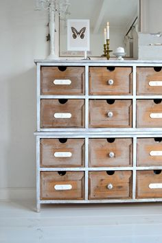 vintage library card cabinet