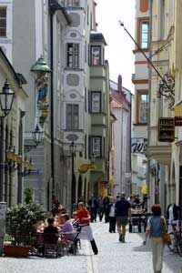 Regensburg, Germany-one of the oldest, most romantic towns in Germany, home to 1200 historical buildings that stand close by each other in oldtown.