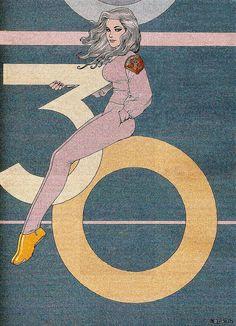 Un dessin réalisé à l'occasion des 30 ans  de l'excellent Madame Figaro .